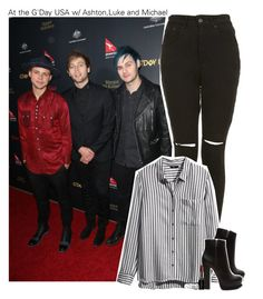 """""""At the G'Day USA w/ Ashton,Luke and Michael"""" by amberamelia-123 ❤ liked on Polyvore featuring The Ragged Priest, H&M, Forever 21, Smashbox and Free People"""