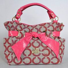 Coach New Baby Bag Op Art Bow Tie Large Tote Pink [Coach-0768] - $52.37 : Coach Outlet Canada Online