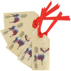 patterned stags gift tags - pack of 5 from Paperchase