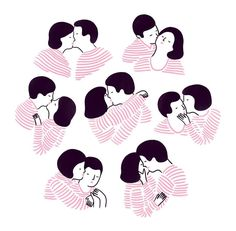 Agathe Sorlet is an illustrator and animator based between London and Paris. Her works, minimal and two-tone, are able to communicate deepest emotions with simp Simple Illustration, Paar Illustration, Funny Illustration, Digital Illustration, Drawing People, Doodle Art, Art Inspo, Illustrators, Art Drawings