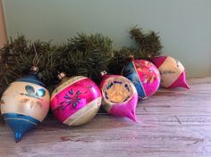 Vintage hand painted Christmas ornaments. Made in Poland  on Etsy, $36.00
