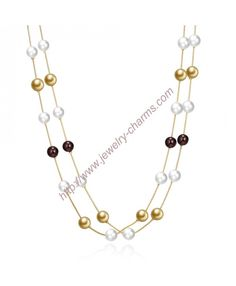 Buy Hot Fashion Gold Plated Chain Necklace Jewelry Uniform Size Beads