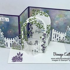 Grace's Garden Double Z-Fold Card Tutorial - Stampin Up - Box Cards Tutorial, Card Tutorials, Z Cards, Pop Up Cards, Step Cards, Fancy Fold Cards, Folded Cards, Diy Embroidery Flowers, Tarjetas Stampin Up