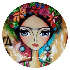 Ink Painting on fabric Pottery Painting, Ink Painting, Fabric Painting, Images D'art, Time Images, Art Rupestre, Kahlo Paintings, Round Canvas, Frida Art