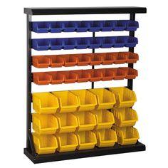 LEGO STORAGE! Harbor Freight Tools Floor Bin Rack with 47 Bins..$84.99