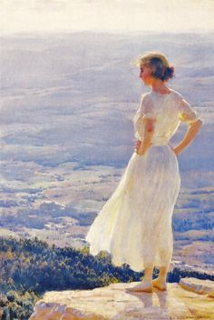 'Sunlit Valley' by Charles Courtney Curran