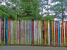 Leadville, Colorado fence made of skis  I remember going by this many times when we lived there.