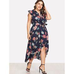 c5b054ce45e Floral Wrap Dress. Voluptuous Inc · Summer Plus Size Party Dresses