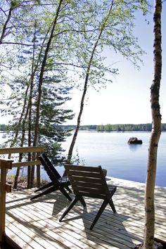 Lakeside Cottage, Lake Cottage, Terrace Garden, Garden Chairs, Scandinavian Cottage, Haus Am See, Sunrise Lake, Beach Vibes, Lake Cabins
