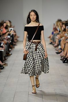 Shop What Everyone's About To Be Wearing #refinery29  http://www.refinery29.com/fashion-week-spring-trends-to-buy-now#slide1  Michael Kors  Gingham is the new plaid. Enough said.
