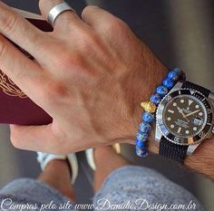 Pulseira Masculina Pedra Jaspe Blue Ocean semi Preciosa e pingentes folheados a Ouro 18k ,joias Masculinas , relógio masculino, Rolex, anel masculino , banho de ouro CLIQUE AQUI E CONHEÇA: http://demidiodesign.com.br/pulseiras/pedra-stone/pulseira-pedra-jaspe-blue-ocean-skull-ouro-18k-cod0145.html