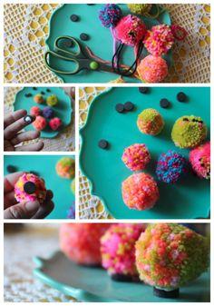 scrumdillydilly: mother's day make: pom pom magnets