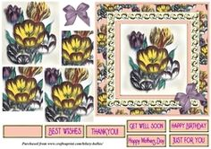 Tulips 6x6 on Craftsuprint - View Now!