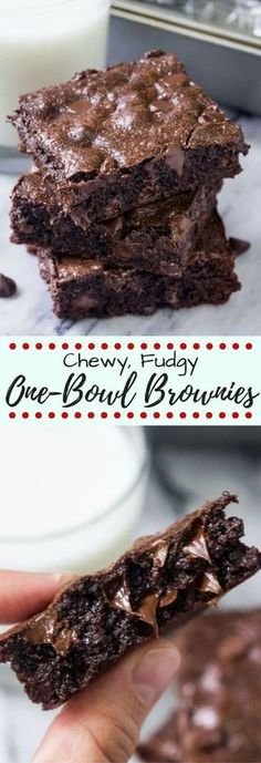 If you like your brownies chewy, gooey and extra chocolatey - then these one bowl chewy brownies are for you! They're an easy decadent recipe that are waaayyy better than boxed brownies! Chewy Brownies, One Bowl Brownies, Cocoa Brownies, Boxed Brownies, Brownies With Cocoa Powder, Easy Brownies, Vanilla Brownies, Baking Brownies, Easter Eggs