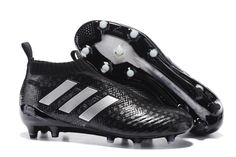 dccb913cf7b Adidas ACE 17+ PureControl FG 3D Black Silver White Men Soccer Cleats  Adidas Football