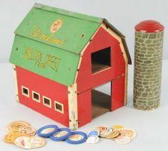 Wooden Golden Crest Farm Toy Barn