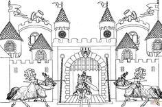 Looking for a Coloriage à Imprimer Chateau Disney. We have Coloriage à Imprimer Chateau Disney and the other about Coloriage Imprimer it free. Online Coloring Pages, Free Printable Coloring Pages, Coloring Book Pages, King Arthur's Castle, Chateau Disney, Castle Coloring Page, Rei Arthur, Kids Castle, Printable Crafts
