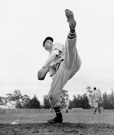 Bob Feller has the only Opening Day no-hitter in MLB history. With the way pitchers are protected in modern times we may never see another. Mlb, Bob Feller, Cleveland Indians Baseball, Cleveland Rocks, Cleveland Team, Baseball Photos, Baseball Equipment, Baseball Stuff, Sports Baseball