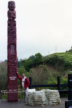 Waitomo Caves entrance on the North Island of New Zealand in 1998.  Photography by David E. Nelson