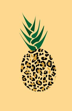 Leopard Pineapple Picture Art Print