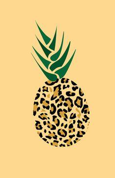 Leopard Pineapple Picture Art Print