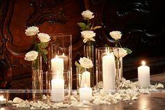 Dekoracja w bieli przy ławkach Anniversary Parties, 50th Anniversary, Church Wedding Decorations, 50th Birthday Party, Mom And Dad, Flower Power, Party Ideas, Wedding Ideas, Candles
