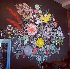 A Comprehensive Overview on Home Decoration - Modern Chalkboard Wall Art, Chalk Wall, Chalk Board, Mural Art, Wall Murals, Graffiti Art, Institute Of Contemporary Art, Wall Paint Colors, Flower Wall
