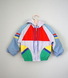 80s Primary Color Light Jacket Coat Sz 2T 3T