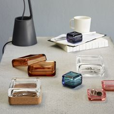 Iittala Vitriini box 108 x 108 mm, clear/cork   Bowls   Decoration   Finnish Design Shop