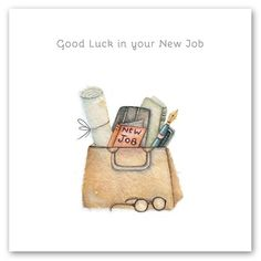 Good luck in your New Job Birthday Posts, 25th Birthday, New Job Card, Make Your Own Card, Good Luck, Whimsical Art, Greeting Cards, Gift Cards, Card Making