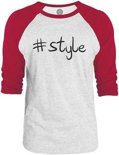 Big Texas Hastag Style (Black) 3/4-Sleeve Raglan Baseball T-Shirt