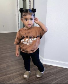 Black Little Girls, Cute Little Girls Outfits, Kids Outfits Girls, Toddler Girl Outfits, Little Girl Swag, Stylish Baby Girls, Stylish Kids, Cute Mixed Babies, Cute Black Babies