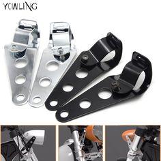 Universal de la motocicleta 35mm-43mm de la linterna soporte de montaje cromado cabeza tenedor abrazadera del montaje de soporte de la lámpara de luz de ajuste harley(China (Mainland))