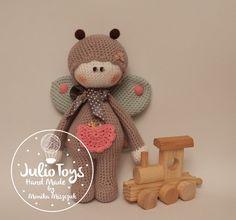 Crochet pattern . Butterfly crochet doll PDF pattern von JulioToys