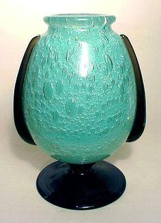 FRENCH GLASS, Schneider, Vase