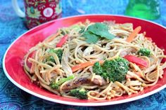 Chinese Peanut Noodles with Chicken