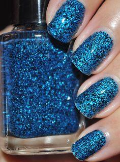 Sneeze Breeze Black and Blue Glitter Nail Polish by TheHungryAsian, $9.25