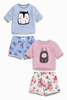 Buy Two Pack Character Floral Short Pyjamas (3-16yrs) from the Next UK online shop
