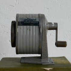 Vintage Pencil Sharpener.   What? Vintage? Come on, they aren't THAT old!
