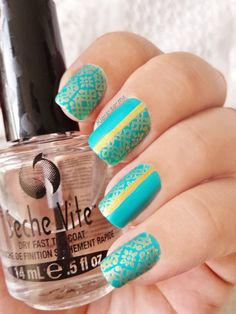Oriental Turquoise China Glaze : Turned up turquoise n°70345 Mini Bourjois Anniversaire Année 2006 Pueen Stamping plate n°24