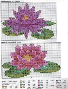 Varias flores punto de cruz   Punto de cruz - Colección de ...