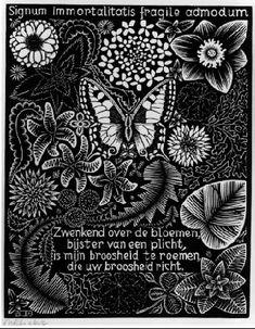 Emblemata - Butterfly - M.C. Escher, 1931