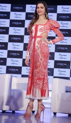 Deepika Padukone For The Launch Of L'Oreal Paris Cannes Collection 2017
