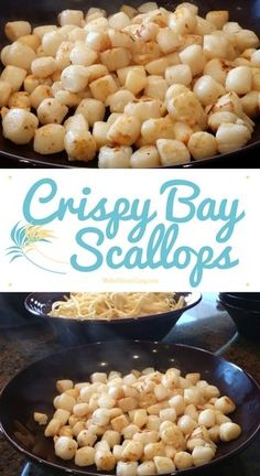 Jeff likes This recipe for Crispy Bay Scallops is a great way to enjoy scallop taste on a budget. Most importantly, though, my family loves loves loves this recipe! Shellfish Recipes, Seafood Recipes, Appetizer Recipes, Cooking Recipes, Healthy Recipes, Healthy Scallop Recipes, Clam Recipes, Seafood Meals, Appetizers