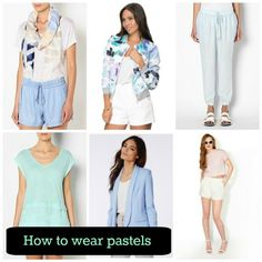 Pastels are those feminine light colours most women avoid wearing. It's a trend that women fear wearing because they can make one look washed out if the right tones or colour combinations aren't chosen. #pastels #fashion #clothes #mixandmatch