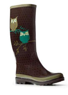 fossil owl rain boot
