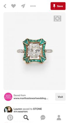 We love the setting on this ring.