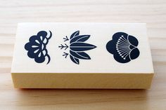 Rubber stamp  Japanese pine bamboo and plum by karaku on Etsy, ¥850