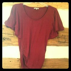 Red top with wing sleeves Winged sleeved red top from Charlotte Russe. Super flattering on. I loved this top. Charlotte Russe Tops Blouses