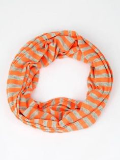 Running Striped Infinity Scarf - $16
